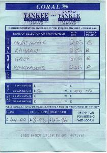 How To Write Out A Betting Slip
